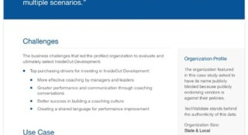 Local Government Agencies and InsideOut Development: A Case Study