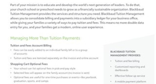 Blackbaud Tuition Management for Church Schools Datasheet
