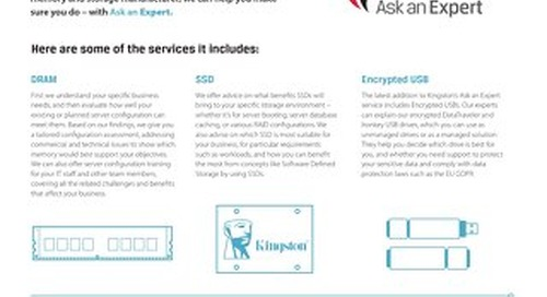 Ask an Expert services from Kingston Technology
