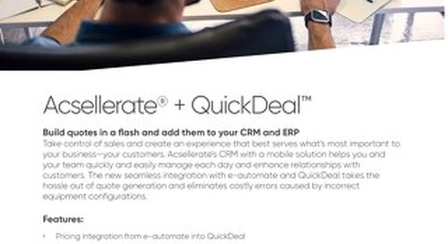 Acsellerate + QuickDeal Solution Flyer