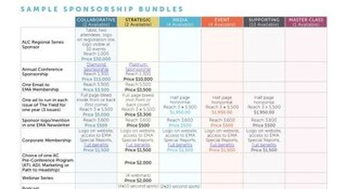 EMA Corporate Sponsorship Bundles