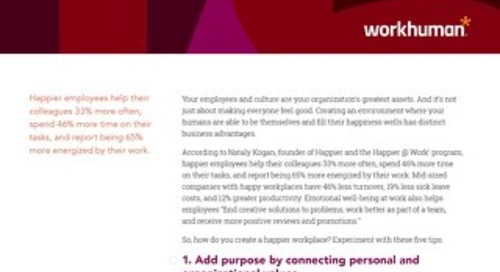 5 Tips for Happier Employees