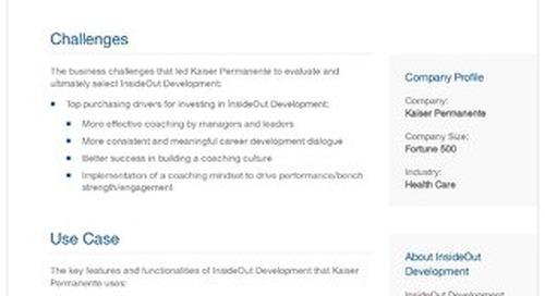Kaiser Permanente and InsideOut Development: A Case Study