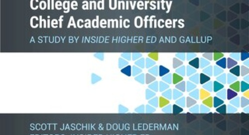Inside Higher Ed 2020 Survey of College and University Chief Academic Officers