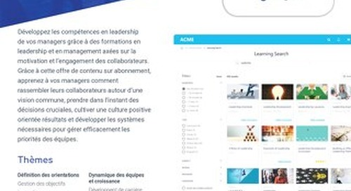 Fiche produit Content Anytime Leadership & Management