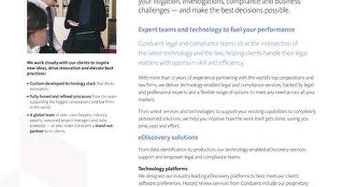 Legal, Compliance and Analytics Overview brochure