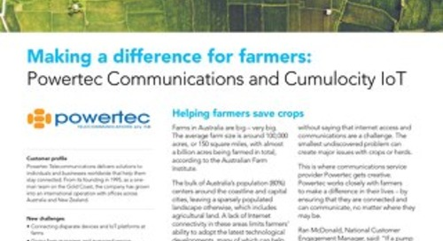 Powertec and Software AG: Working together to help farmers
