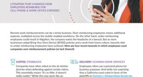 BYOD & Remote Work Reimbursement Policy Lawsuits