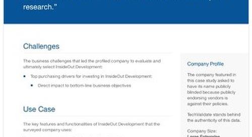 Large Enterprise Banks and InsideOut Development: A Case Study