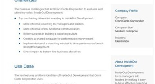 Omni Cable Corporation and InsideOut Development: A Case Study