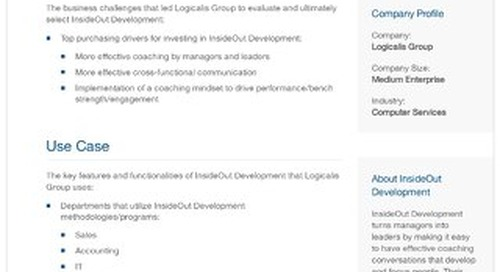 Logicalis Group and InsideOut Development: A Case Study