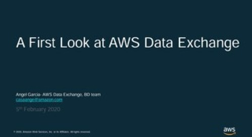 AWS Data Exchange_20200205