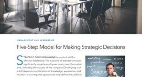 Five-Step Model for Making Strategic Decisions