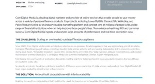 Core Digital Media: Digital Advertiser Switches from Teradata and Boosts Performance by 30%