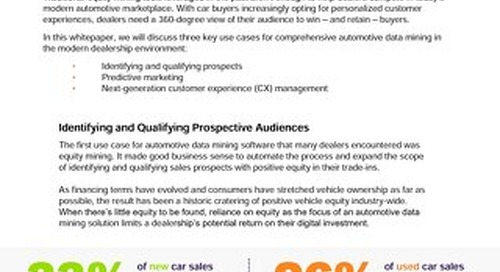 Why Comprehensive Data Mining is the Only Way Forward for Auto Sales