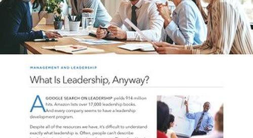 What Is Leadership, Anyway?