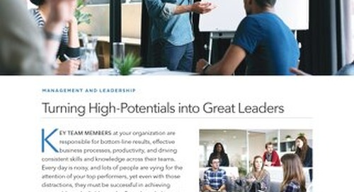 Turning High-Potentials into Great Leaders