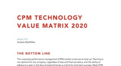 Nucleus CPM Technology Value Matrix 2020
