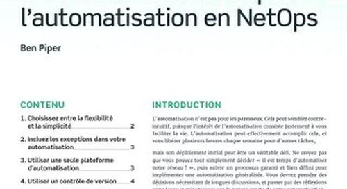 5 conseils et astuces pour l'automatisation en NetOps