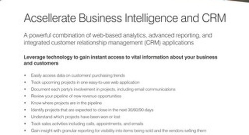 Business Intelligence & CRM