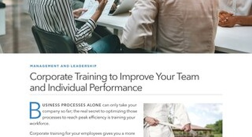 Corporate Training to Improve Your Team and Individual Performance