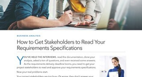How to Get Stakeholders to Read Your Requirements Specifications