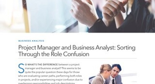 Project Manager and Business Analyst: Sorting Through the Role Confusion