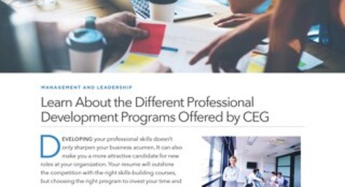 Learn About the Different Professional Development Programs Offered by CEG