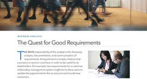 The Quest for Good Requirements
