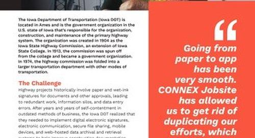 CONNEX Jobsite Iowa Department of Transportation Case Study