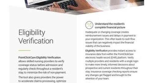 Eligibility Verification: Solution Spotlight
