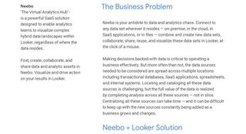 Looker + Neebo: A Modern Approach to Data Analytics