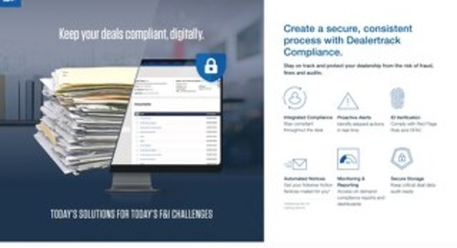 Compliance Dealertrack uniFI® Info Sheet