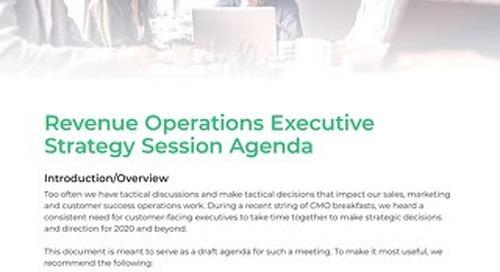 Revenue Operations Executive Summit Agenda