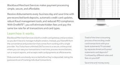 Blackbaud Merchant Services Datasheet