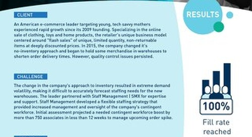 [Fulfillment]  Accommodate Fluctuating Demand With An Agile Workforce Case Study