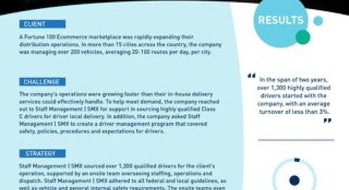 [Distribution] Qualified Drivers Support an Expanding Delivery Operation Case Study