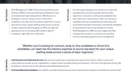 Top Candidates and Specialized Hiring SMX Info Sheet
