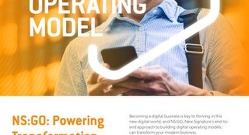 NS: GO - Digital Operating Model - Flyer