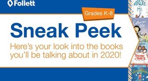 Publisher Sneak Peek 2020 Elementary Catalog
