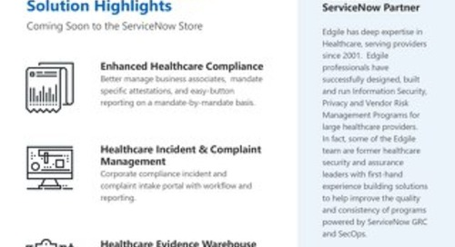 ServiceNow Healthcare Solutions Delivered by Edgile