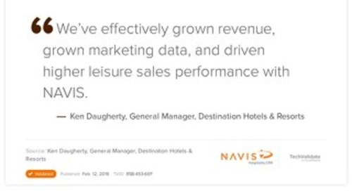 Testimonial from Ken Daughtery, General Manager for Destination Hotels & Resorts
