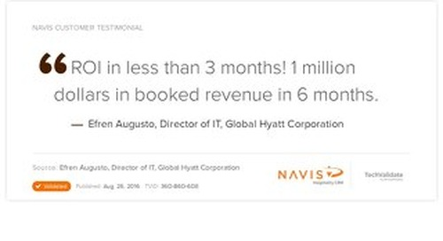 Testimonial from Efren Augusto, Director of IT at Global Hyatt Corporation