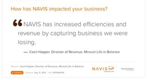 Testimonial from Cecil Hopper, Director of Revenue at Miraval Life