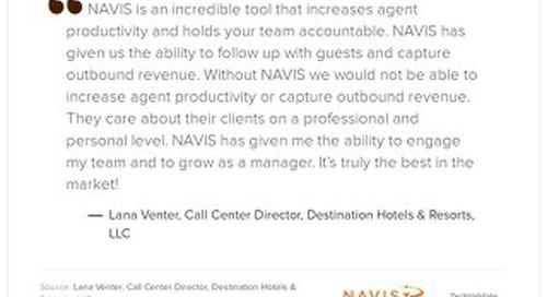 Testimonia from Lana Venter, Call Center Director at Destination Hotels & Resorts