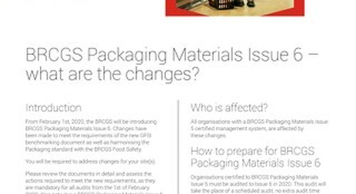 BRCGS Packaging v6 What are the Changes
