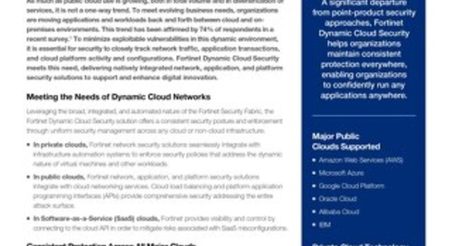 Fortinet Dynamic Cloud Security Provides Seamless, Flexible Protection