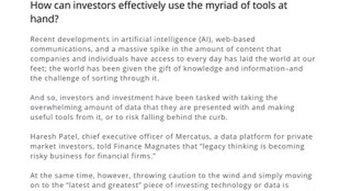 Investing in 2020: Exploring AI, Machine Learning, & Alt Data