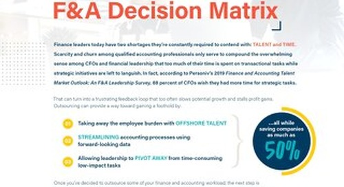 F&A Decision Matrix