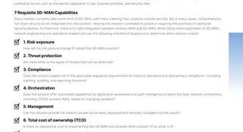 Checklist-SD-WAN 7 Requisite Capabilities